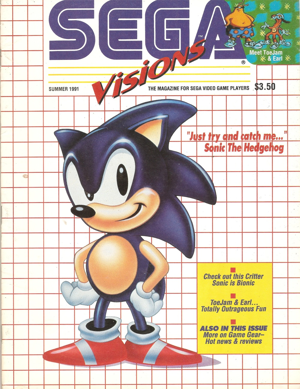 Classic Sega Magazine Corner Sega Visions Introduces Us To Sonic 20 Years Ago Segabits 1 Source For Sega News