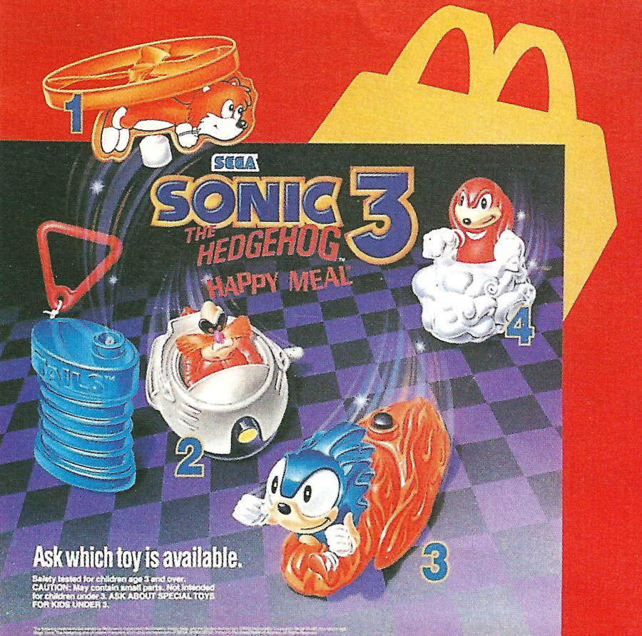 Toys From Mcdonald S Happy Meals : The weekly five celebrating years of sonic