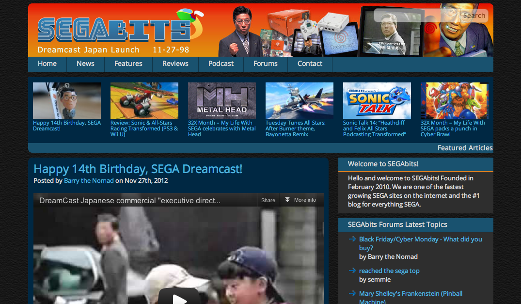Happy 14th Birthday, SEGA Dreamcast! » SEGAbits - #1 Source for SEGA