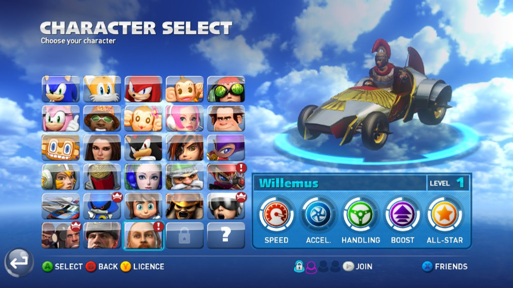 Sonic All Stars Racing Transformed Characters And Cars
