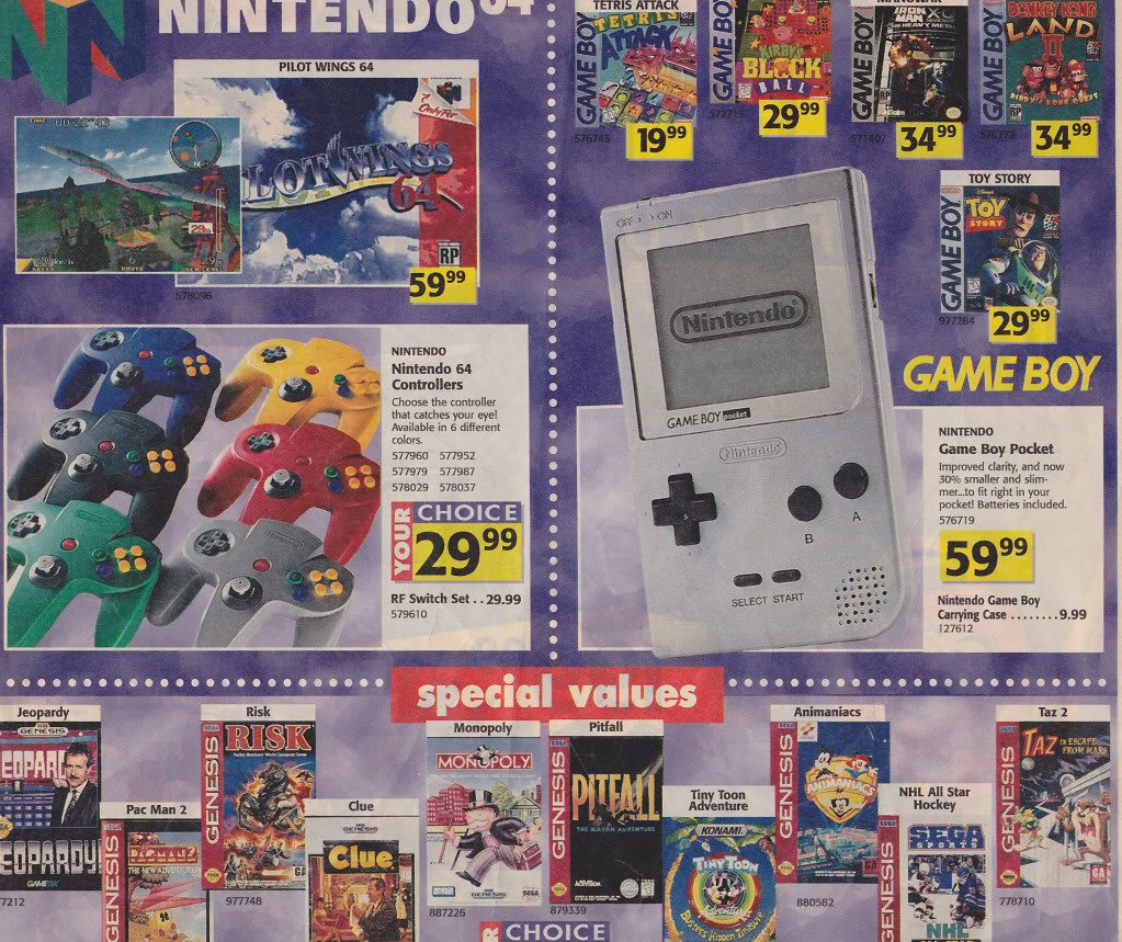 Gaming Info Sites: SEGA Memories: A Look Back At Toys 'R' Us' 1996 Holiday