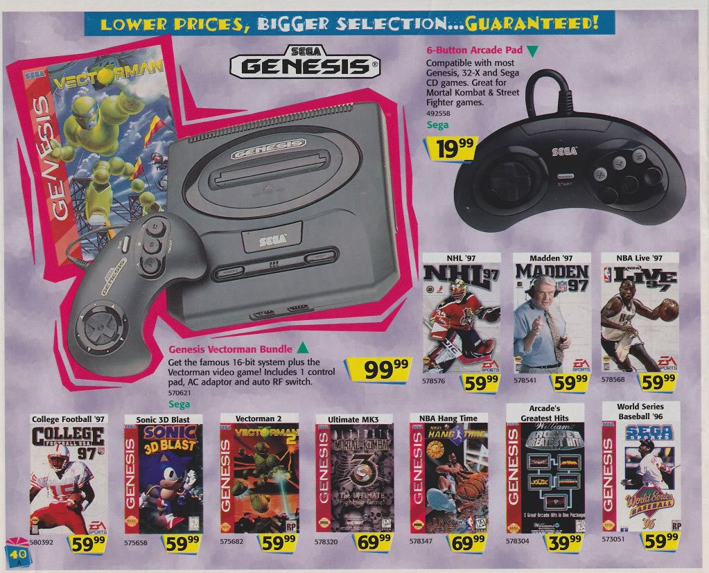 Sega Memories A Look Back At Toys R Us 1996 Holiday Video Game Catalog Segabits 1 Source For Sega News