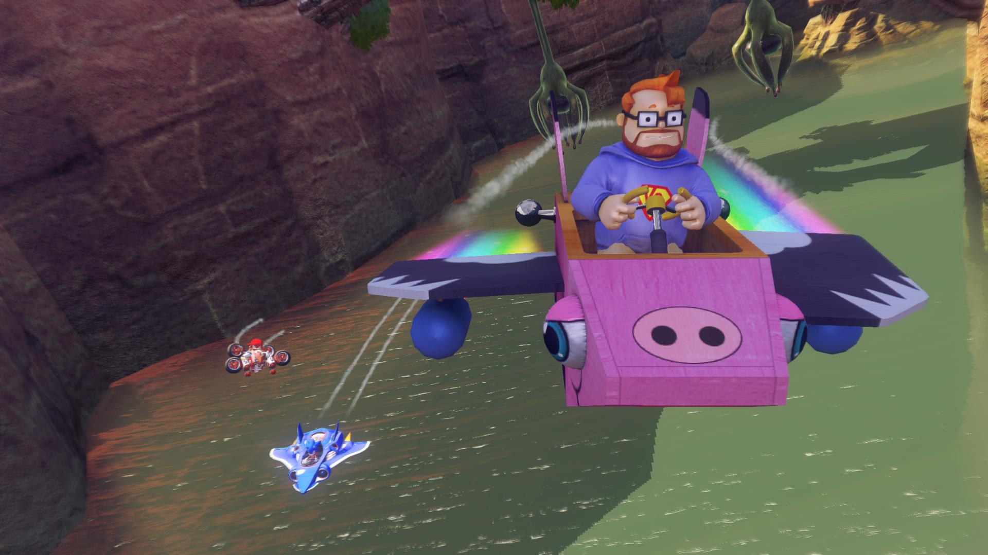 sonic all stars racing transformed yogscast pc dlc releases today