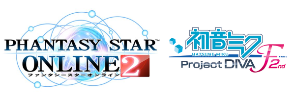 PSO2 and Project Diva F 2nd logo's
