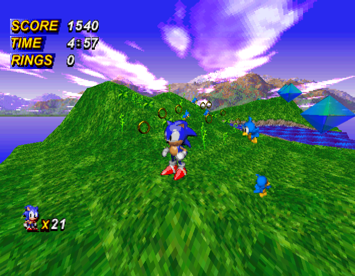 Sonic_X-treme_engine_test_screenshot