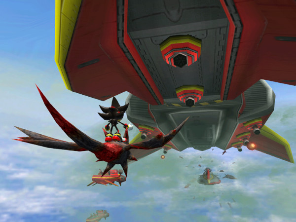 segabits shadow the hedgehog airship