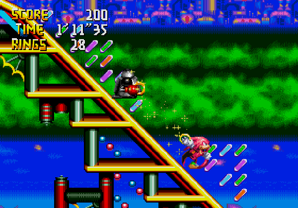 Knuckles chaotix speed slider AWESOME STAGE