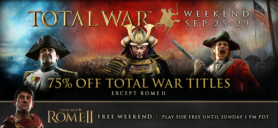 SEGA celebrating Total War weekend, let's you play Rome II for free