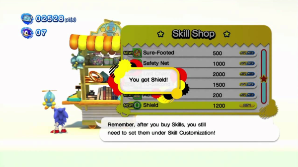 SonicSkillShop