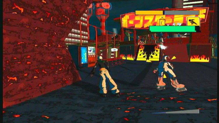 segabits jet set radio future sky dinosaurian square