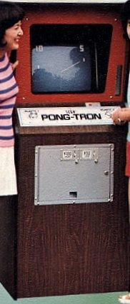 Pong Tron, the very first commercial video game in Japan