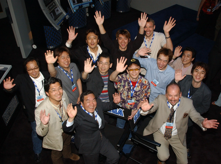 The ten dev team heads, along with Japan president Sato, and American president Moore - all ready for success.