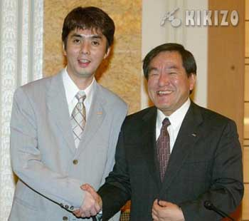 Management getting passed on a new generation - (Hisao Oguchi on the left, Hideki Sato on the Right