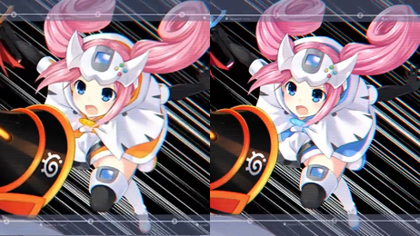Superdimension Neptune VS Sega Hard Girls dreamcast variation blue orange swirl outfit