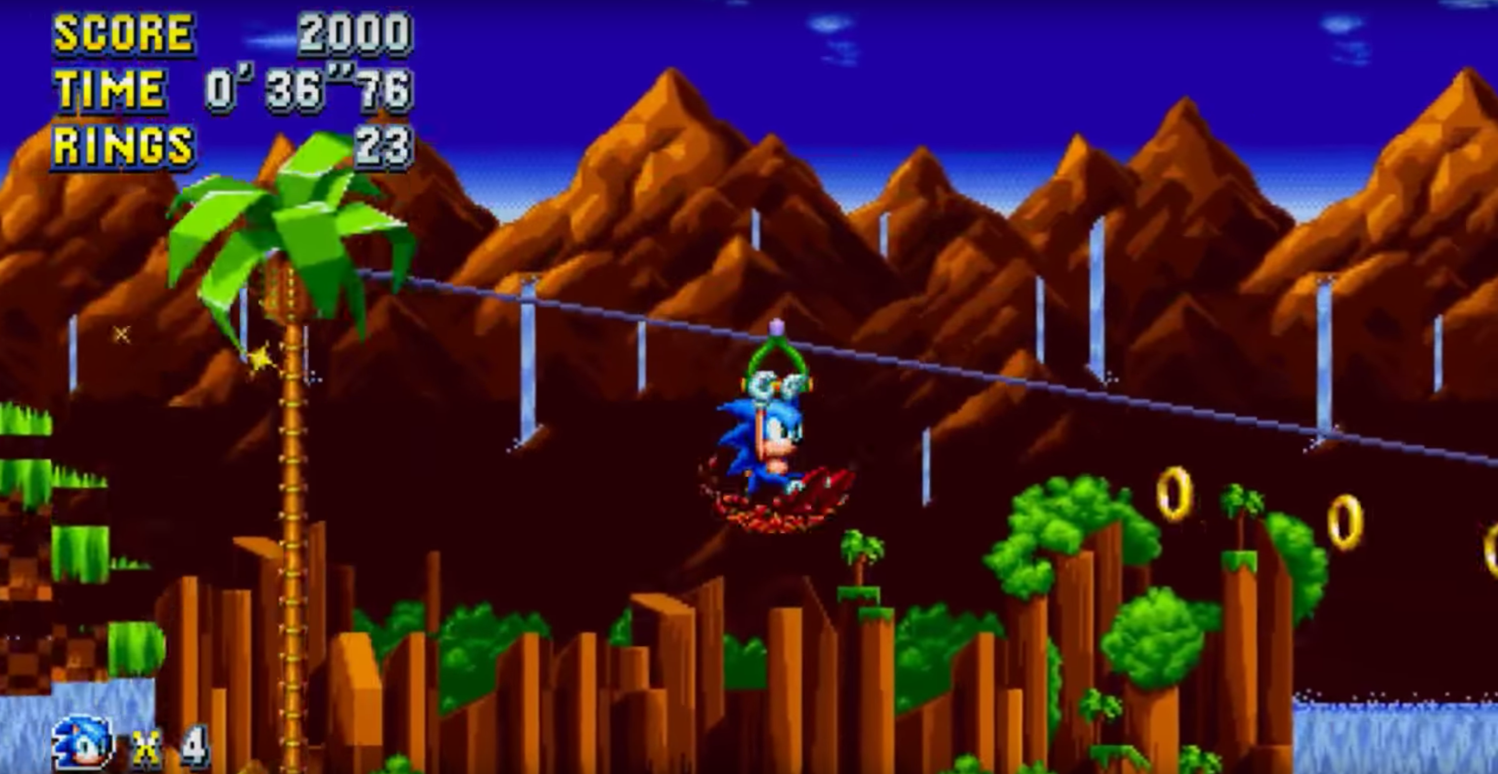 New Sonic Mania Green Hill Zone Act 2 gameplay revealed, new