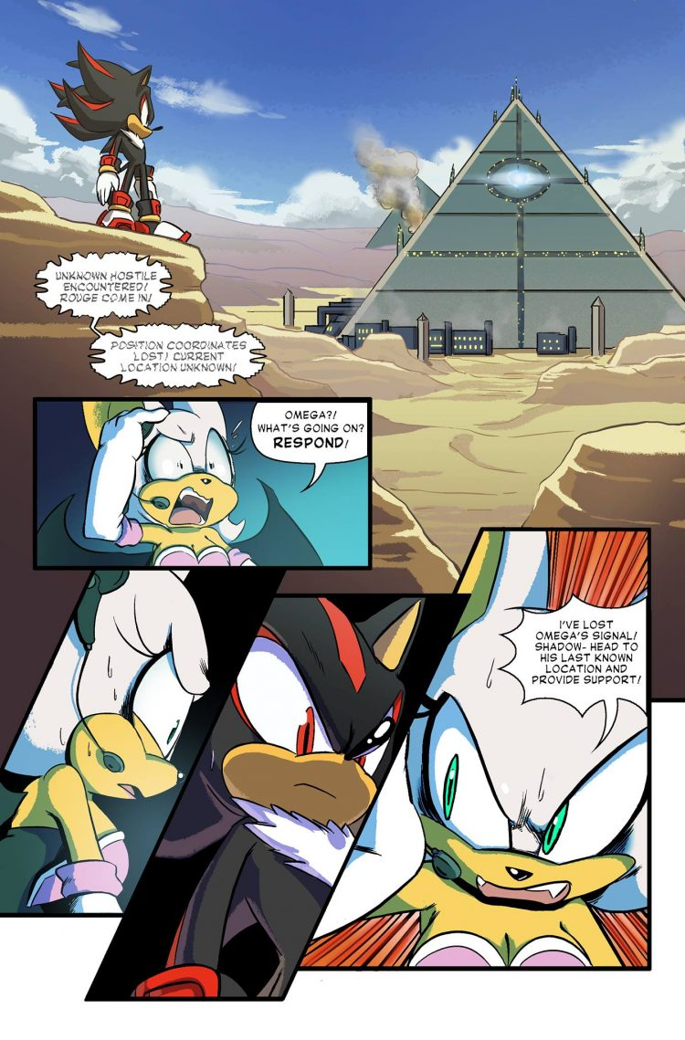 Sonic Forces Looming Shadow web comic brings back Team
