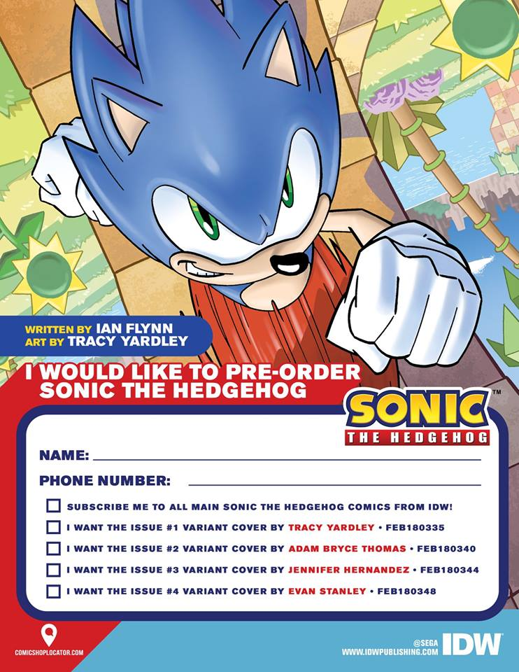Idw S Sonic The Hedgehog Comic Book Gets Printable Pre Order Form Segabits 1 Source For Sega News