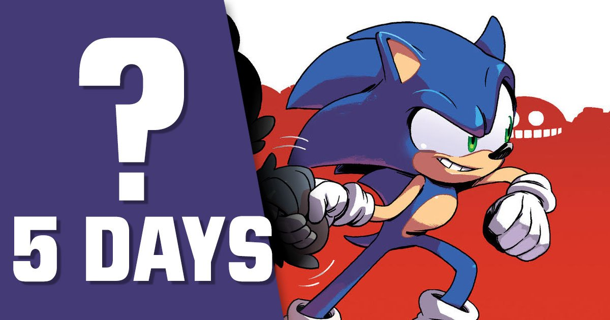 Sonic The Hedgehog Idw Comic To Get New Character Reveal In 5 Days Segabits 1 Source For Sega News