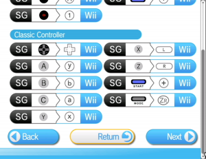 Wii Classic Controller mappings match the controller layout of the original systems.