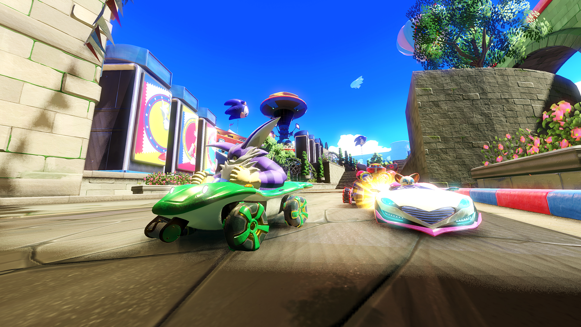 Team Sonic Racing Debuts Rooftop Run Inspired Track At