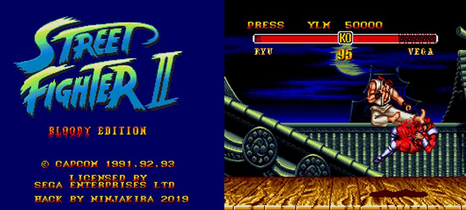 Street Fighter II: Bloody Edition SEGA Genesis rom hack