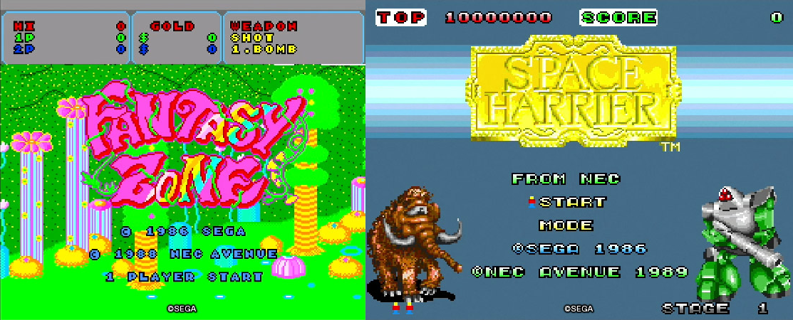 SEGA games Space Harrier and Fantasy Zone coming to the